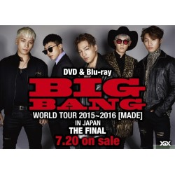 BIGBANG LIVE DVD&Blu-ray『BIGBANG WORLD TOUR 2015~2016 [MADE] IN JAPAN : THE FINAL』