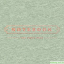 PARK KYUNG (BLOCK B) - NOTEBOOK (1ST MINI ALBUM)