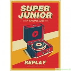 SUPER JUNIOR 8th Repackage Album [REPLAY] 韓版(一般版)